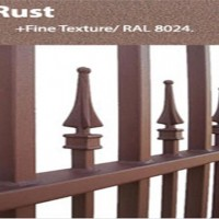 Custom gates and fences colors rust